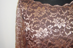 Robe dentelle chocolat