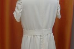 Robe en lainage blanc