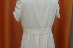 Robe en lainage blanc